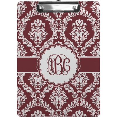 Maroon & White Clipboard (Personalized)