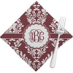 Maroon & White Napkins (Set of 4) (Personalized)