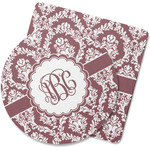 Maroon & White Rubber Backed Coaster (Personalized)