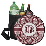 Maroon & White Collapsible Cooler & Seat (Personalized)