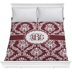 Maroon & White Comforter (Personalized)