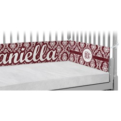 Maroon & White Crib Bumper Pads (Personalized)