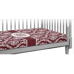 Maroon & White Crib Fitted Sheet (Personalized)