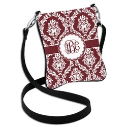 Maroon & White Cross Body Bag - 2 Sizes (Personalized)