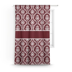 Maroon & White Curtain (Personalized)
