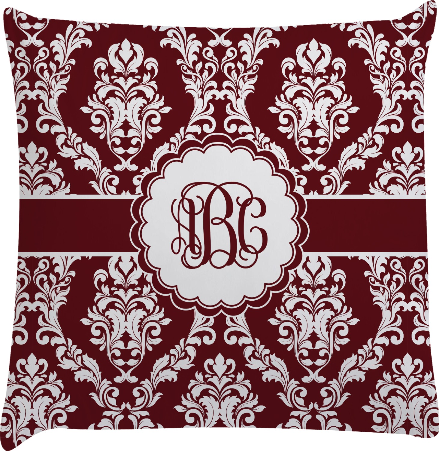 Decorative Pillow Cases White : Maroon & White Decorative Pillow Case (Personalized) - YouCustomizeIt