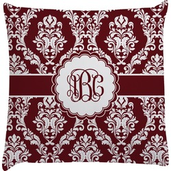 Maroon & White Decorative Pillow Case (Personalized)