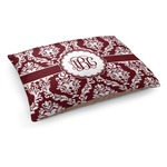 Maroon & White Dog Bed (Personalized)