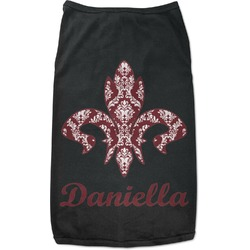 Maroon & White Black Pet Shirt (Personalized)