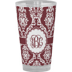 Maroon & White Drinking / Pint Glass (Personalized)