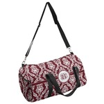 Maroon & White Duffel Bag (Personalized)