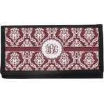 Maroon & White Canvas Checkbook Cover (Personalized)