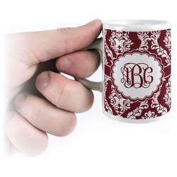 Maroon & White Espresso Mug - 3 oz (Personalized)