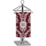 Maroon & White Finger Tip Towel - Full Print (Personalized)