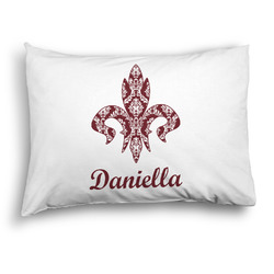 Maroon & White Pillow Case - Standard - Graphic (Personalized)