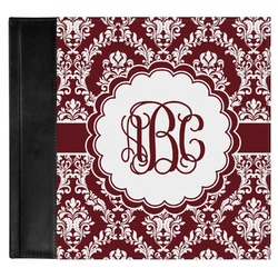 Maroon & White Genuine Leather Baby Memory Book (Personalized)