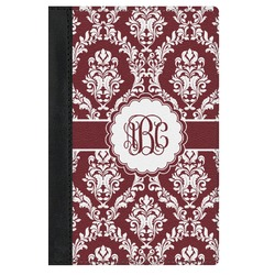 Maroon & White Genuine Leather Passport Cover (Personalized)