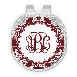 Maroon & White Golf Ball Marker - Hat Clip
