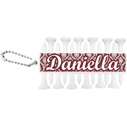 Maroon & White Golf Tees & Ball Markers Set (Personalized)