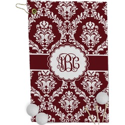 Maroon & White Golf Towel - Full Print (Personalized)