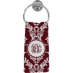 Maroon & White Hand Towel - Full Print (Personalized)