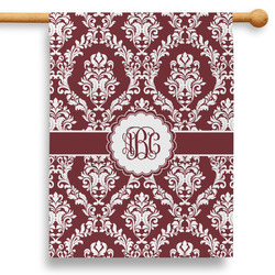 """Maroon & White 28"""" House Flag (Personalized)"""