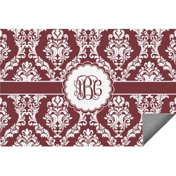 Maroon & White Indoor / Outdoor Rug (Personalized)