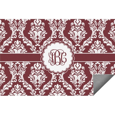 Maroon & White Indoor / Outdoor Rug - 4'x6' (Personalized)