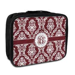 Maroon & White Insulated Lunch Bag (Personalized)
