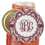 Maroon & White Jar Opener (Personalized)