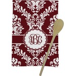 Maroon & White Kitchen Towel - Full Print (Personalized)