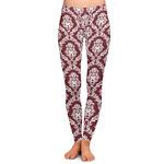 Maroon & White Ladies Leggings (Personalized)