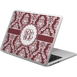 Maroon & White Laptop Skin - Custom Sized (Personalized)