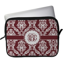 "Maroon & White Laptop Sleeve / Case - 15"" (Personalized)"