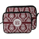 Maroon & White Laptop Sleeve / Case (Personalized)
