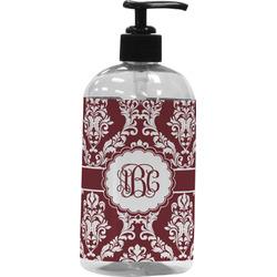Maroon & White Plastic Soap / Lotion Dispenser (Personalized)