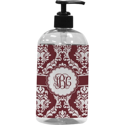 Maroon & White Plastic Soap / Lotion Dispenser (Personalized)