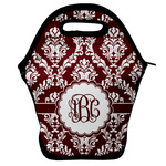 Maroon & White Lunch Bag w/ Monogram