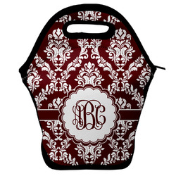 Maroon & White Lunch Bag (Personalized)