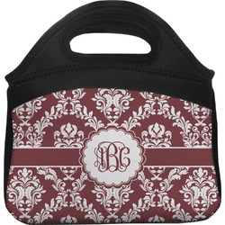 Maroon & White Lunch Tote (Personalized)