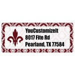 Maroon & White Return Address Labels (Personalized)