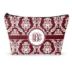 Maroon & White Makeup Bags (Personalized)