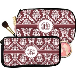 Maroon & White Makeup / Cosmetic Bag (Personalized)