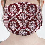 Maroon & White Face Mask Cover (Personalized)