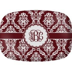 Maroon & White Melamine Platter (Personalized)