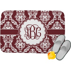 Maroon & White Memory Foam Bath Mat (Personalized)