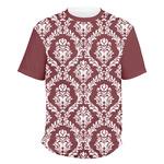 Maroon & White Men's Crew T-Shirt (Personalized)
