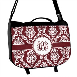 Maroon & White Messenger Bag (Personalized)