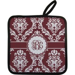 Maroon & White Pot Holder (Personalized)