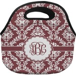 Maroon & White Lunch Bag - Large (Personalized)
